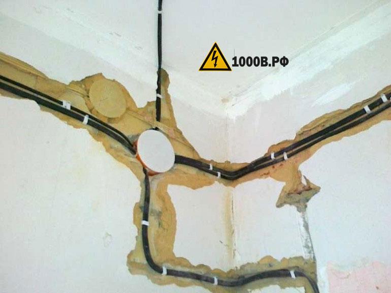 Монтаж проводки, способы прокладки проводов. 2