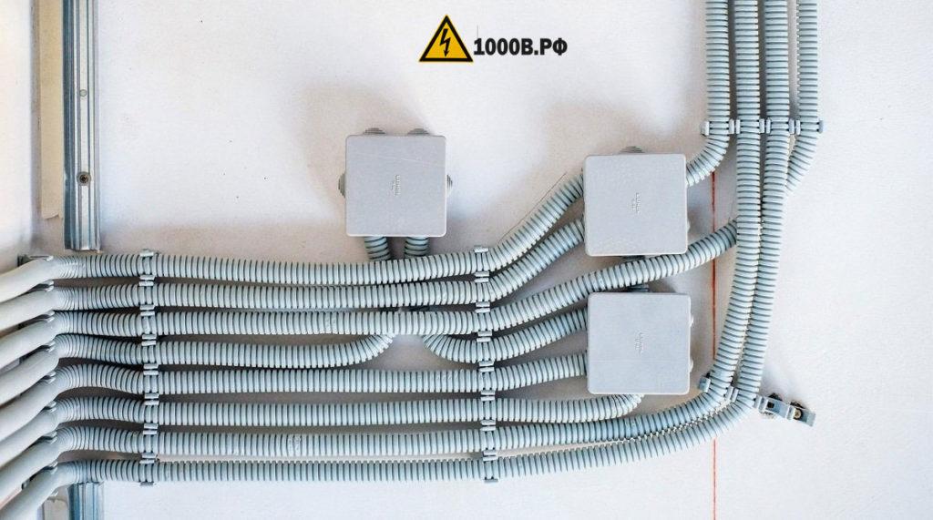 Монтаж проводки, способы прокладки проводов. 5